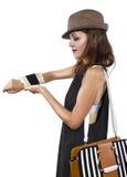 Reloj elegante de DIY Imagen de archivo libre de regalías