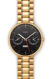 Reloj elegante de lujo de oro ilustración del vector