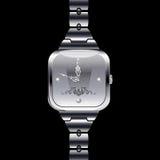 Reloj elegante del metal Imagenes de archivo