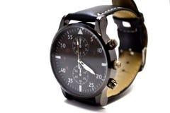 Reloj elegante en el fondo blanco fotografía de archivo libre de regalías