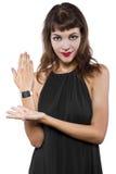 Reloj elegante genérico elegante Fotografía de archivo libre de regalías