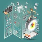 Reloj elegante Infographics fotografía de archivo libre de regalías