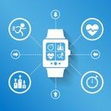 Reloj elegante para la salud stock de ilustración