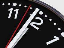 Reloj en blanco Imagenes de archivo