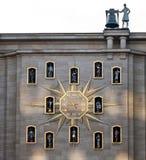 Reloj en Bruselas Fotografía de archivo