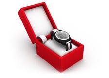 Reloj en caja Foto de archivo