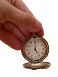Reloj en el brazo. concepto del tiempo Imagen de archivo