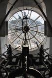 Reloj en el campanario Imagen de archivo