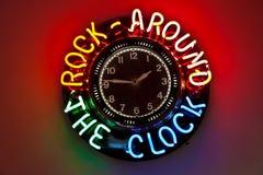 Reloj en el comensal de Route 66 Foto de archivo libre de regalías