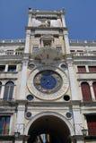 Reloj en el cuadrado de San Marco Imágenes de archivo libres de regalías