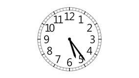 Reloj en el fondo blanco