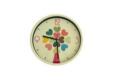 Reloj en forma de corazón del modelo Imagen de archivo