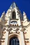 Reloj en la iglesia de la torre foto de archivo libre de regalías