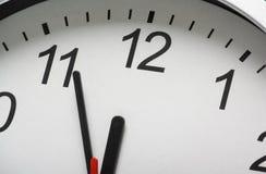 Reloj en la medianoche Imágenes de archivo libres de regalías