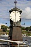 Reloj en Oslo, Noruega Foto de archivo libre de regalías
