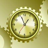 Reloj en travell de la forma alrededor con el diente Imágenes de archivo libres de regalías