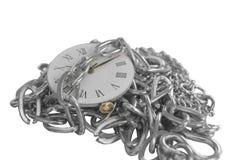 Reloj encadenado imagen de archivo libre de regalías