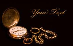 Reloj envejecido fotografía de archivo