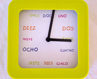 Reloj español foto de archivo libre de regalías