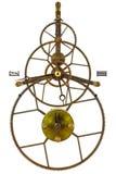 Reloj esquelético antiguo aislado en blanco Imagenes de archivo