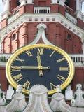 Reloj famoso de Kremlin Imagen de archivo libre de regalías