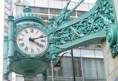 Reloj famoso en Chicago foto de archivo