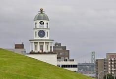 Reloj Halifax de la ciudad Imágenes de archivo libres de regalías