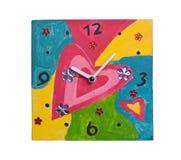 Reloj hecho a mano Imágenes de archivo libres de regalías