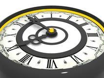 Reloj. Las nueve fotografía de archivo libre de regalías