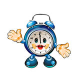 Reloj lindo de la historieta Foto de archivo