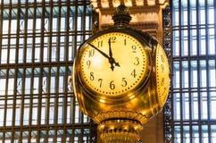Reloj magnífico de la terminal central Fotos de archivo