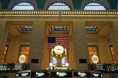Reloj magnífico de la terminal central fotos de archivo libres de regalías
