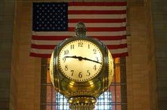 Reloj magnífico de la terminal central foto de archivo