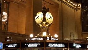 Reloj magnífico de la terminal central Foto de archivo libre de regalías