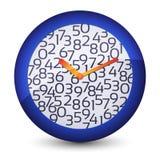 Reloj mecánico del vector Imágenes de archivo libres de regalías