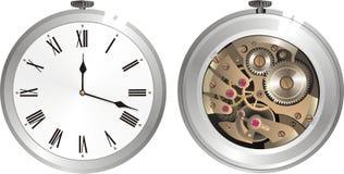 Reloj mecánico viejo Imagen de archivo libre de regalías