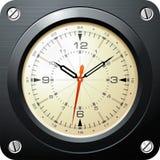 Reloj militar del aeroplano de la vendimia Stock de ilustración