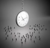 Reloj minúsculo de la gente stock de ilustración