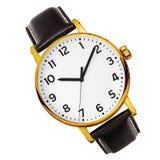 Reloj moderno aislado en un blanco fotografía de archivo libre de regalías