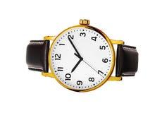 Reloj moderno aislado en un blanco imagenes de archivo