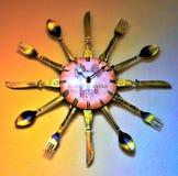 Reloj montado en la pared de la cocina fotografía de archivo libre de regalías
