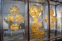 Reloj mundial famoso en Copenhague Fotos de archivo
