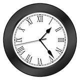 Reloj - negro Foto de archivo libre de regalías