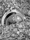 Reloj negro Foto de archivo libre de regalías