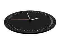 Reloj negro Imagenes de archivo