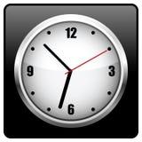 Reloj negro de la oficina Foto de archivo