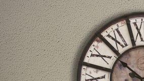 Reloj pasado de moda, timelapse metrajes