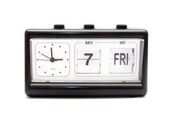 Reloj que mueve de un tirón retro aislado Imagenes de archivo
