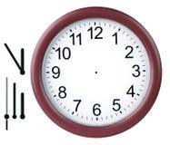 Reloj redondo aislado Imagen de archivo libre de regalías
