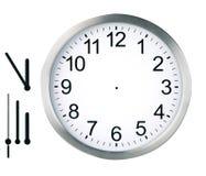 Reloj redondo aislado Fotografía de archivo libre de regalías